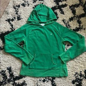 Green American Eagle fleece hoodie